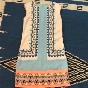 Anthropologie Mara Hoffman type Embroidered Shift